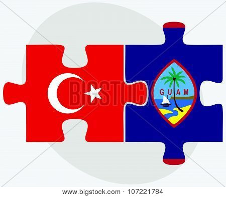 Turkey And Guam Flags