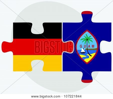 Germany And Guam Flags