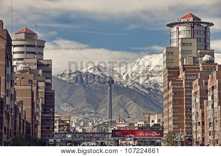 Navvab Buildings On Both Sides Of Tohid Tunnel In Tehran