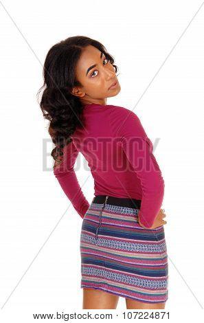 African Woman Bending Backwards.