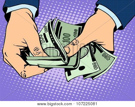 Payback cash in hand