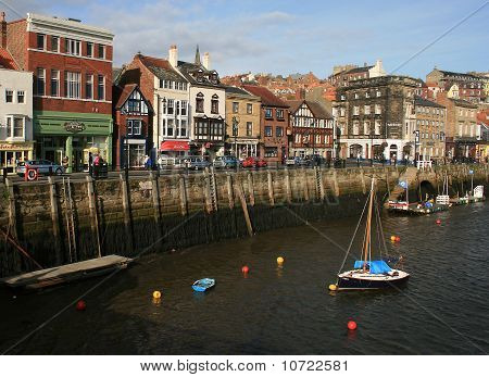 Whitby Harbour Yorkshire UK shops