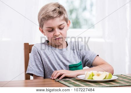 Boy Doesn't Like Fruit