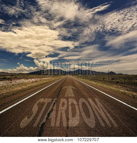 Conceptual Image Of Road With The Word Stardom