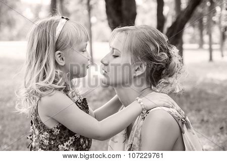 Portrait Of Happy Mother And Baby Girl