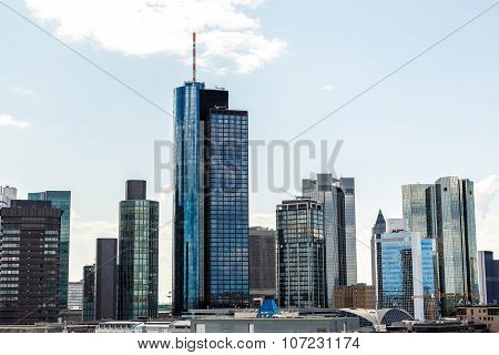 Aerial view of Frankfurt with Hauptwachen in Frankfurt Germany in a summer day poster