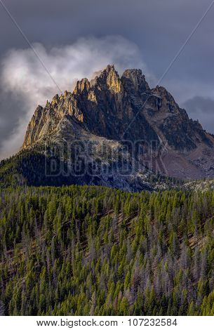 Majestic Braxon Peak In Idaho.