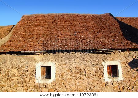 Square Clay Roof Tiles House In Pyrenees Spain