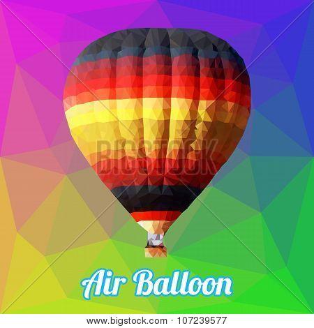 Colorful Air Ballon Polygon Vector