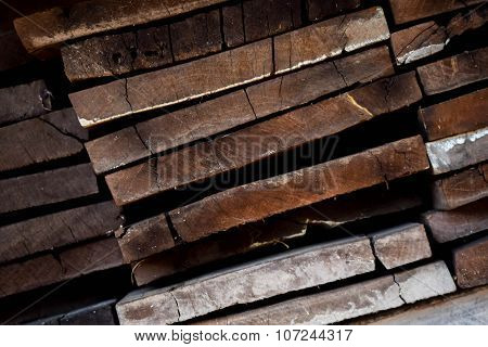 Old Edging Board In Stacks