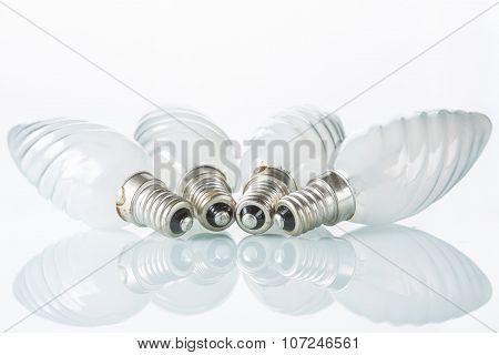 Light bulb isolated on white,  Realistic photo image