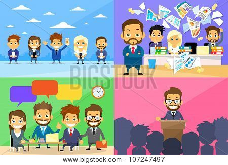 Business People Group Working Day Communication Conference