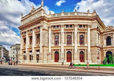 Vienna,austria-september 10, 2015: Burgtheater (imperial Court Theatre), Originally Known As K.k. Th