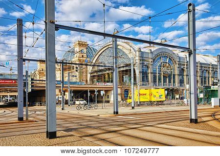 Dresden, Germany-september 08, 2015 : City Views One Of The Most Beautiful City Germany- Dresden. Ce