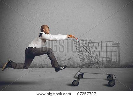 Run to go shopping