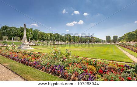 Luxemburg Gardens (Jardin du Luxembourg) in Paris, France.