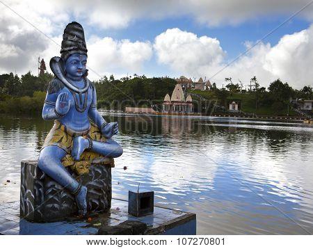 Mauritius. Shiva statue at lake Grand Bassin temple