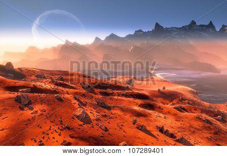 Desert Landscape of Mars