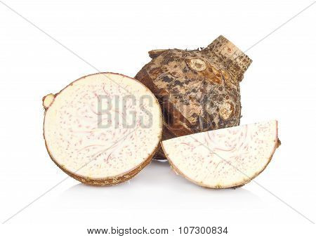 Taro Isolated On White Background.