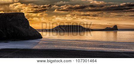 Rhossili Bay and Worm's head