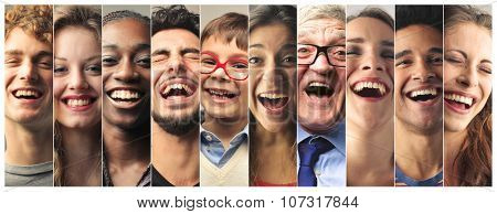 Laughing people
