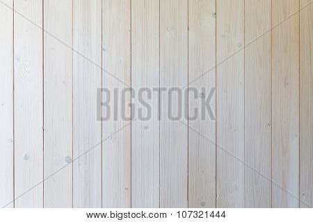 White Wall Made Of Wood