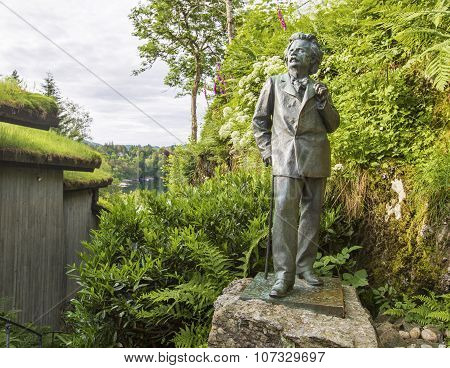 The Sculpture Of The Famous Norwegian Composer Edvard Grieg