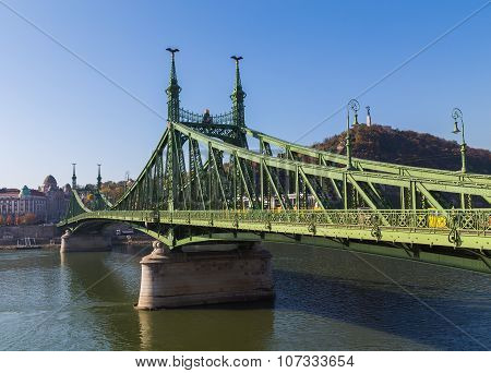 Liberty Bridge In Budapest Hungary