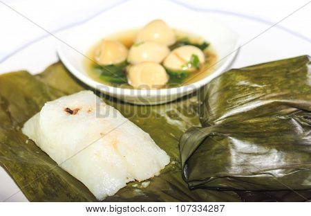 Buras And Sop Telur, Indonesia food