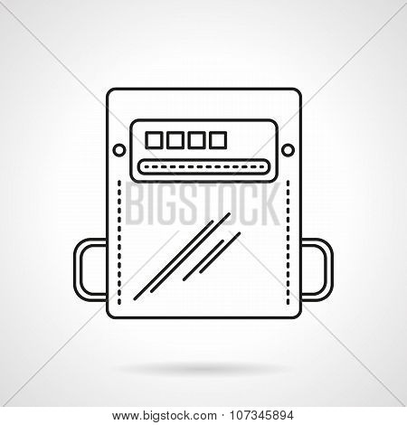 Flat line counter vector icon