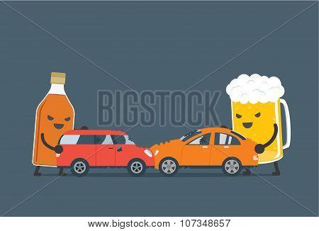 Alcohol make car accident