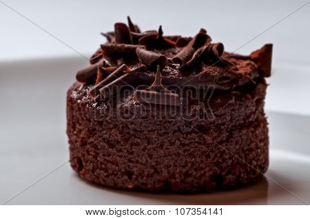 Belgian chocolate muffin cake rich and delicious closeup macro snack