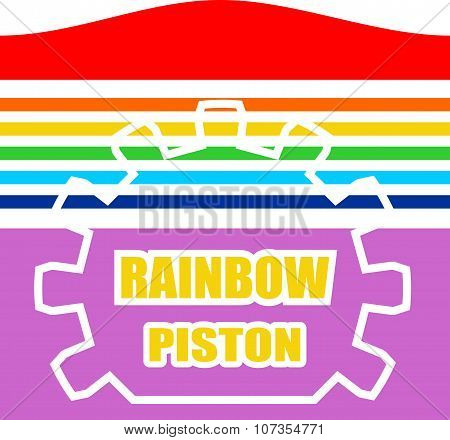 rainbow colored piston icon