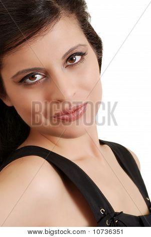 headshot smiling hispanic woman