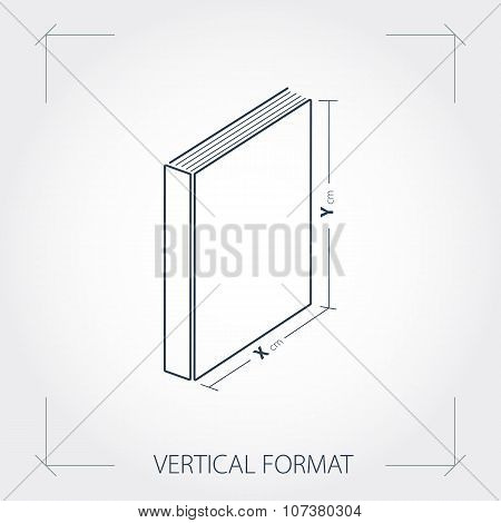 Icon Of Vertical Format Photobook