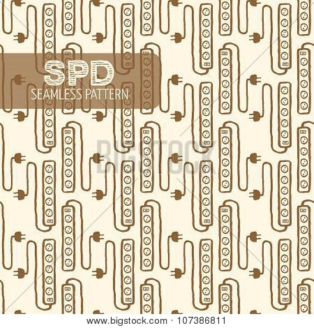 Surge protector seamless pattern