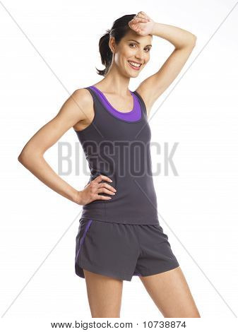 Beautiful And Determined Young Woman After Workout