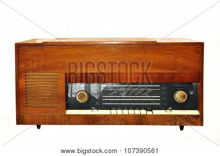1950S Style Vintage Retro Radio Gramophone Isolated