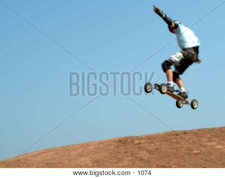 Dirtboarder In Air