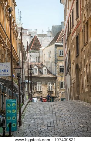 Alley Of The Historical Center Of Vienna