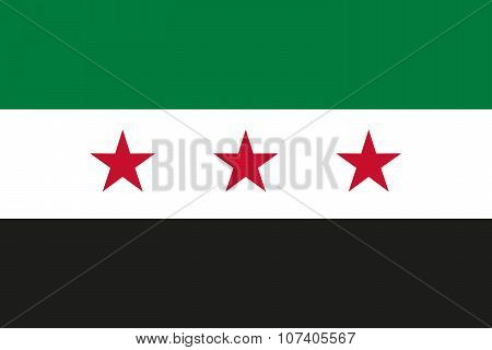 Flag Of Syrian Arab Republic (syria) Used By The Syrian Opposition