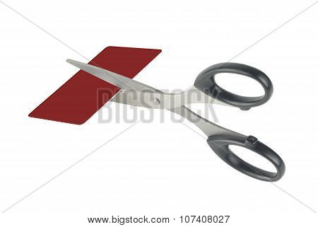 Scissors And Credit Card