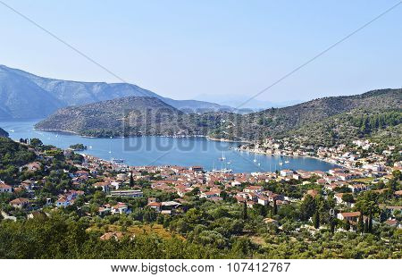 Vathy landscape in Ithaca Greece