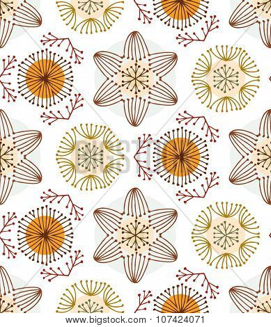 Seamless color hand-drawn pattern, vector EPS10