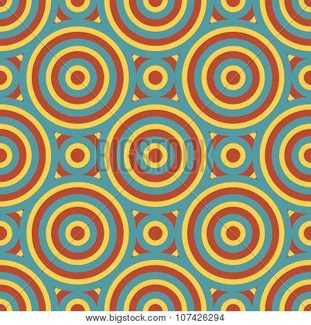 Retro Circles Seamless Pattern
