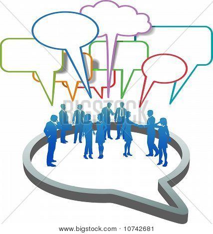 Social Business People Network  Inside Speech Bubble