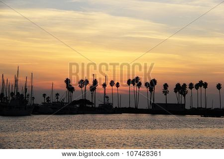 Beautiful Pacific Sunset in Mission Bay, San Diego