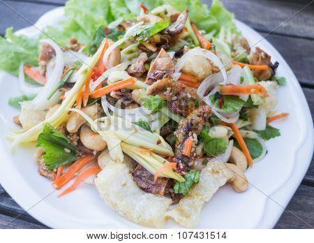 Spicy Seafood And Fish Maw Salad