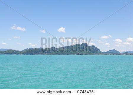 Mountains, Sea And Sky