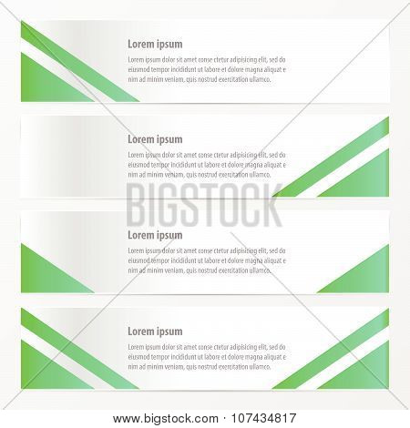 Modern Banner  Design Green Color